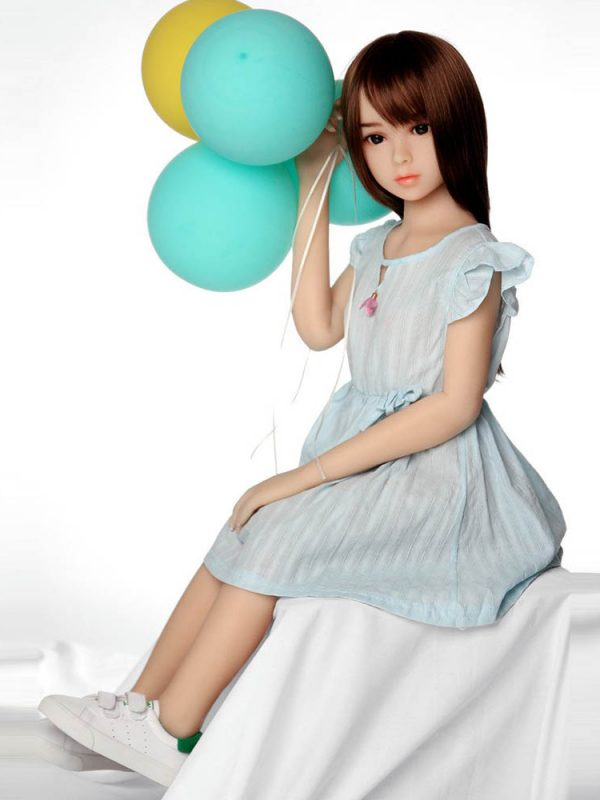 Haruko – 4′ child silicone real sex dolls balloon girl from japan