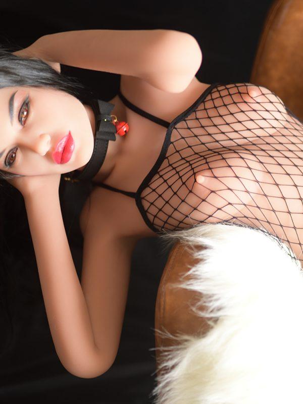 Valery – 5'2″ 158 cm sex dolls tpe girl in black