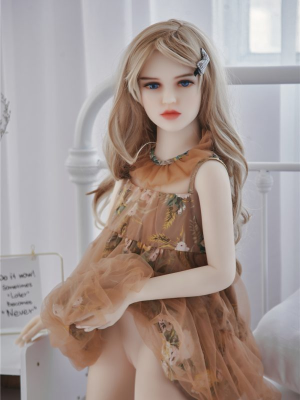 Cindy – 4'2″ 128 cm hot sale flat breast silicone sex doll